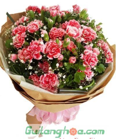Bó hoa cẩm chướng tặng tốt nghiệp