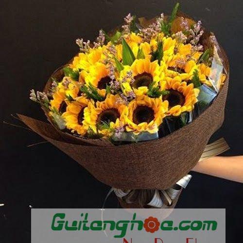 Bó hoa hướng dương tặng tốt nghiệp
